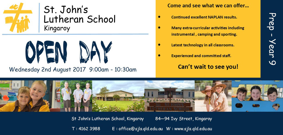 St John's Open Day - click here