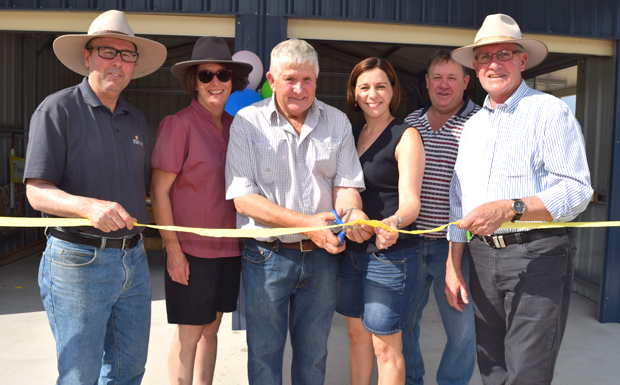 Cutting the ribbon at the renamed J A Gorton Memorial Oval in Maidenwell