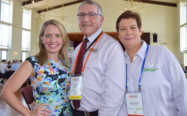 Tourism Minister Kate Jones, South Burnett Mayor Keith Campbell and Southern Queensland Country Tourism CEO Mary-Clare Power