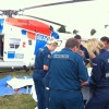 Chopper Helps Injured Riders