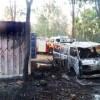 Fire Destroys Vehicle, Container