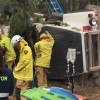 Driver Trapped For Six Hours