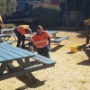 Workers Spruce Up Youth Park