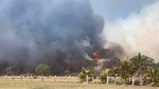Bushfire Burns Near Kingaroy Homes