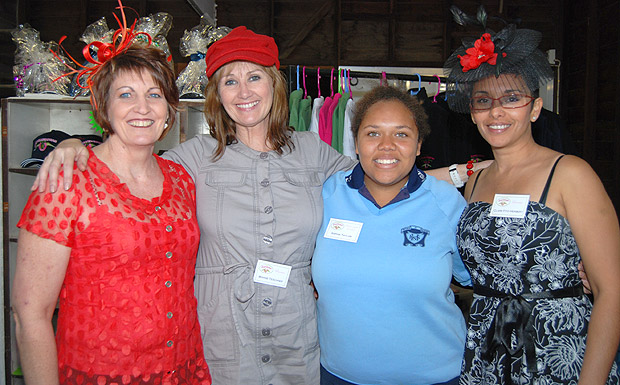 Veronica Webster, Bonnie Teschner, Sophia Taylor and Clare Fitz-Herbert