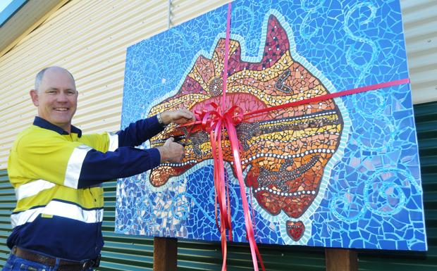 Art helps close a gap southburnett for Cochrane mural mosaic