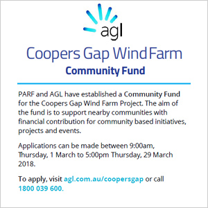 Coopers Gap Wind Farm Community Fund - click here