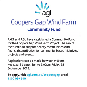 AGL Coopers Gap Wind Farm Community Fund - click here