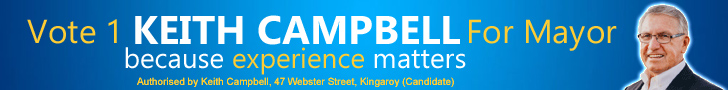 Vote 1 Keith Campbell For Mayor - click here