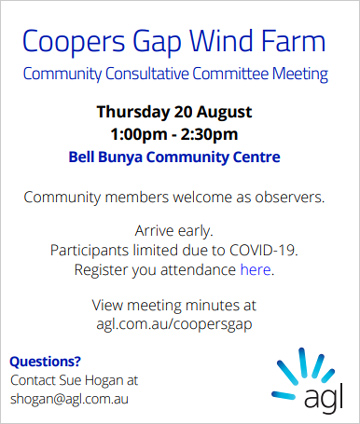 Coopers Gap Community Consultative Meeting - click here