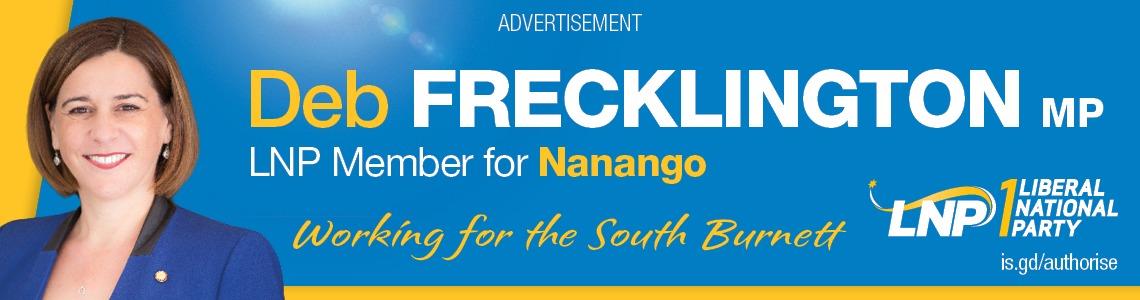 Vote 1 Deb Frecklington For Nanango - click here