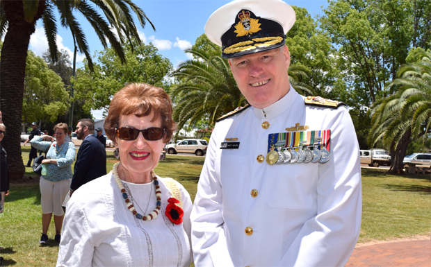 Marie Shaw and Rear Admiral Brett Wolski AM