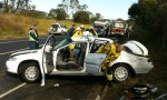 Woman Hurt As Car Rolls