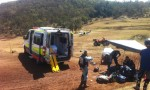 Choppers Fly Out Injured Riders