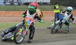 Motorcycle Action At Speedway