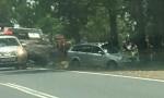 Four Hurt In Crash