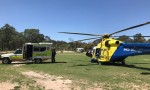 Injured Rider Airlifted