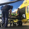 Motorbike Rider Airlifted