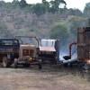 Fire Destroys Grasslands, Sheds
