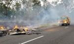 Blaze Destroys Caravan
