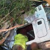 Man Trapped In Truck Rollover