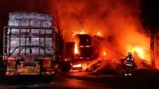 Fiery Truck Crash Blocks Highway