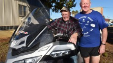Bikers Take A Break In Kingaroy