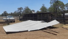 Wind Whips<br> Off Stables Roof