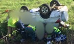 Woman Hurt In Rollover