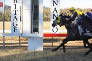 Jockey Escapes Injury In Fall