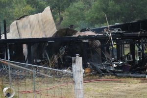 House Gutted By Morning Blaze