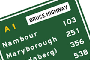 Bruce Highway sign