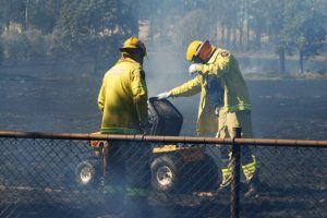 Mowing Sparks Grass Fire