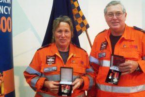 Volunteers Earn Service Medals