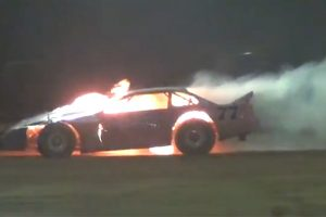 Hot Racing At Speedway
