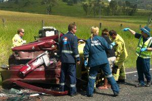 Six Injured In Crash