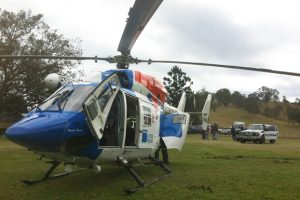 Chopper Locates Lost Man In Bushland