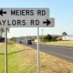Taylors Road-Bunya Highway intersection, north Kingaroy