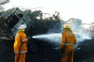 Fire Destroys Vehicles