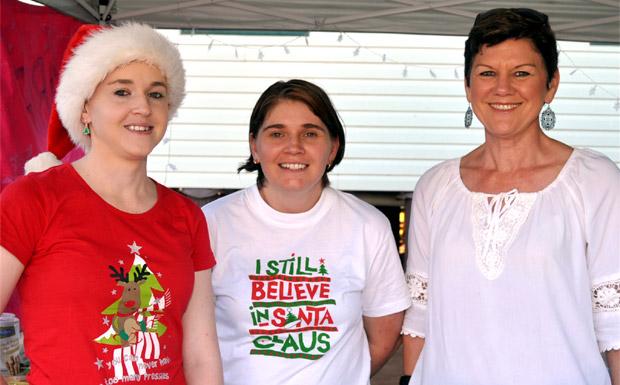 Erin Carroll, Catherine Barr and Verelle O'Shanesy
