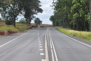 New Wide Road Centre Line Markings