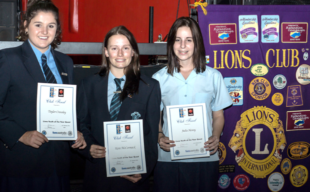 Taylor Crossley, Kate McCormack and Julia Henry