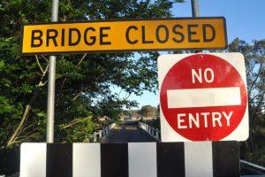 Stonelands Bridge Closed
