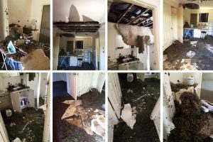 Frosts Cause Ceiling To Collapse