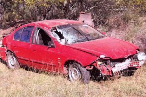 Driver Suffers Head Injuries