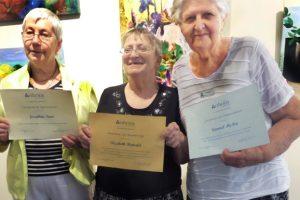 Members Receive Certificates