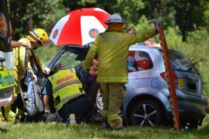 Elderly Passenger Dies After Crash