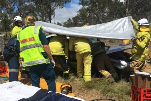 Driver Cut Free From Wreckage