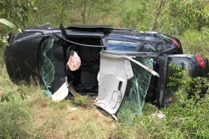 Young Driver Hurt in Rollover