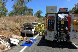 Elderly Woman Trapped In Vehicle